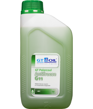 Антифриз готовый GT OIL GT PolarCool G11 зеленый, 1кг