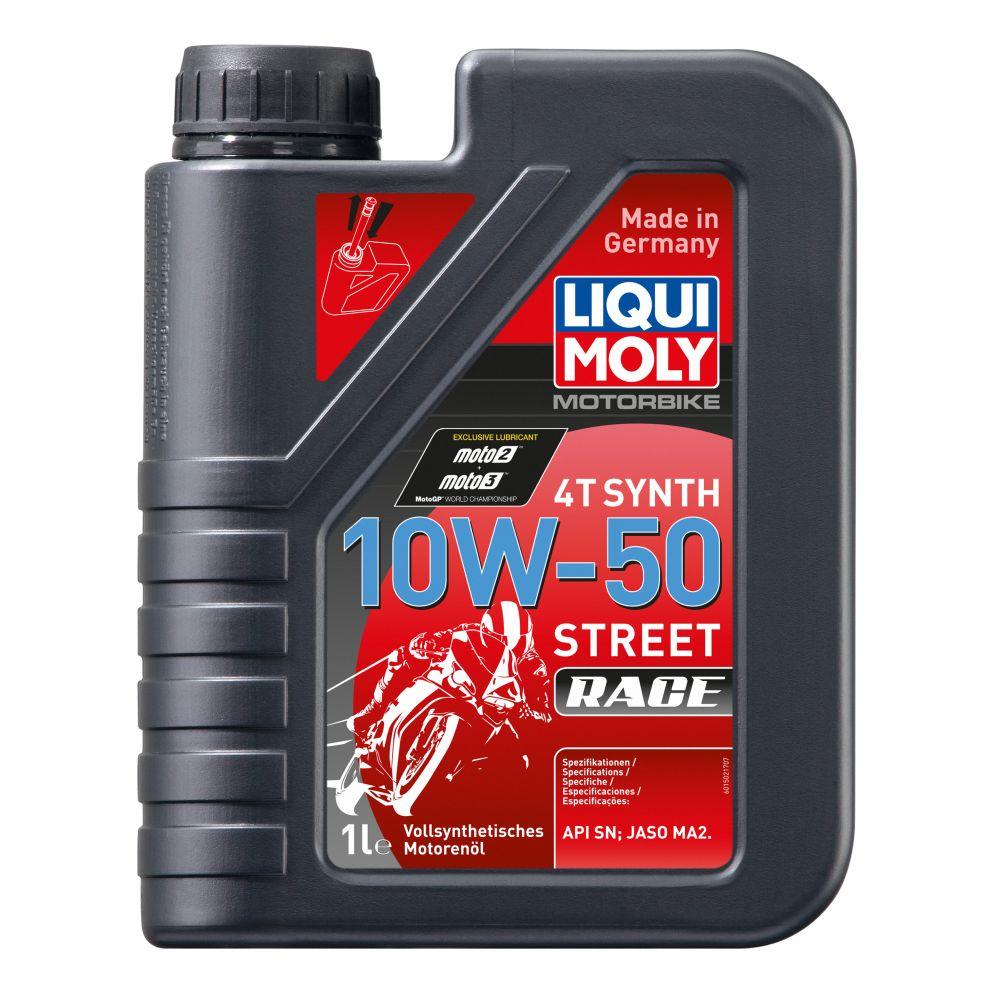 Моторное масло для 4-тактных мотоциклов LIQUI MOLY Motorbike 4T Synth Street Race 10W-50, 1л