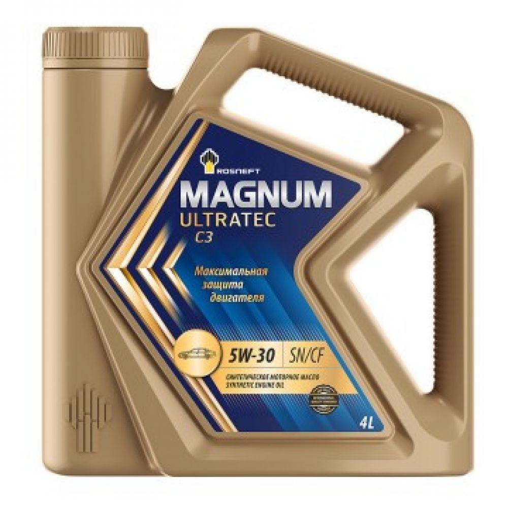 Моторное масло Rosneft Magnum Ultratec C3 5W-30, 4л