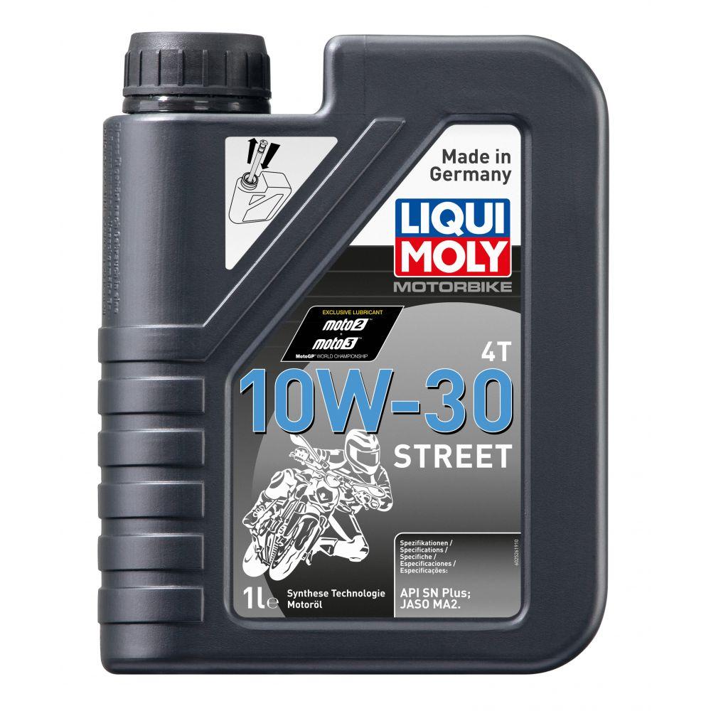 Моторное масло для 4-тактных мотоциклов LIQUI MOLY НС Motorbike 4T Street 10W-30, 1л