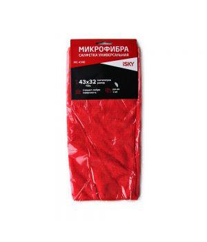 Салфетка для ухода за автомобилем iSky, 43х32 см, красный