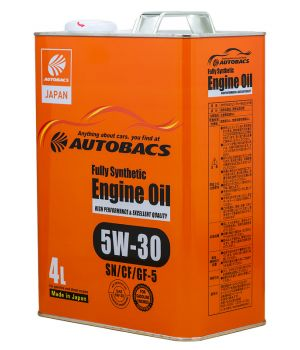 Масло моторное AUTOBACS ENGINE OIL SYNTHETIC 5W-30, 4л
