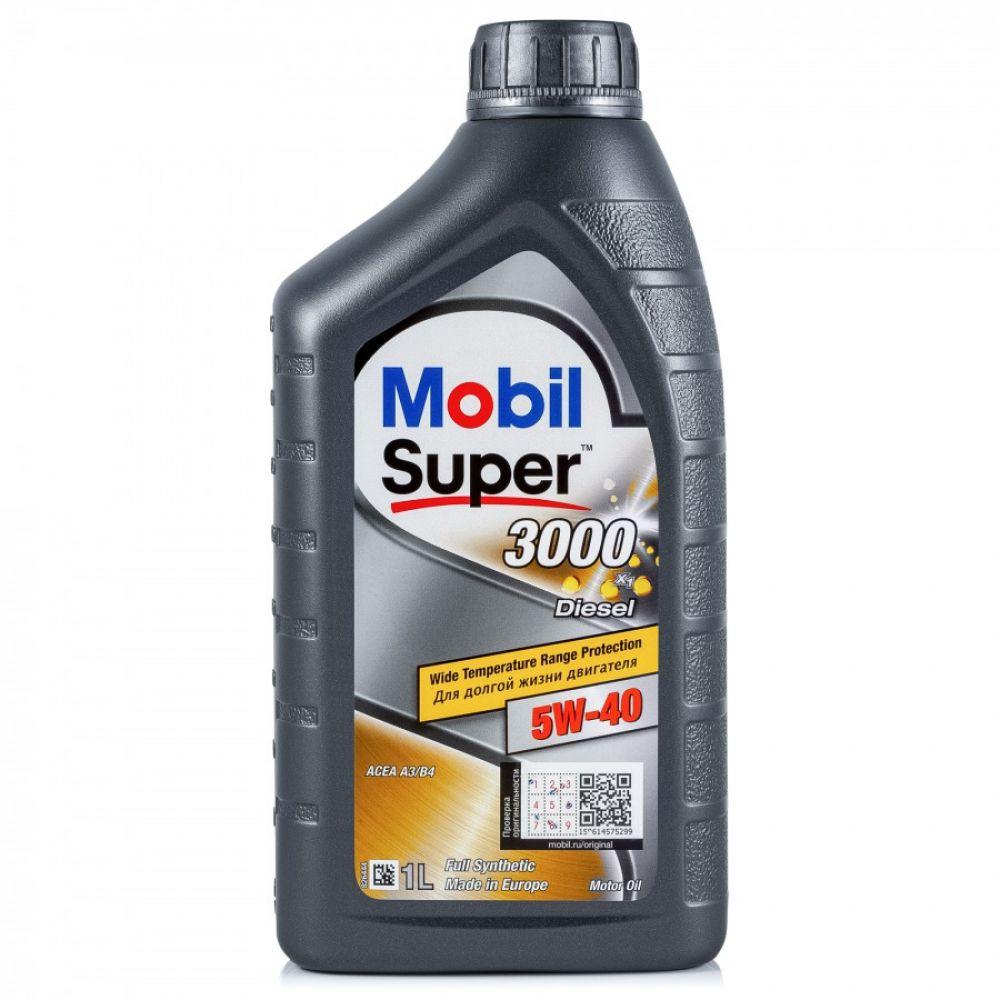 Моторное масло Mobil Super 3000 X1 Diesel 5W-40, 1л