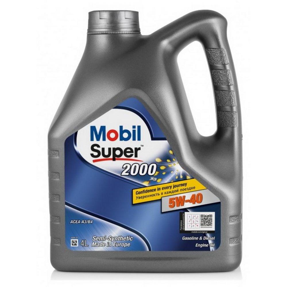 Моторное масло Mobil Super 2000 X3 5W-40, 4л
