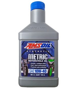 Моторное масло AMSOIL Synthetic Motorcycle Oil SAE 10W-40 (0,946л)