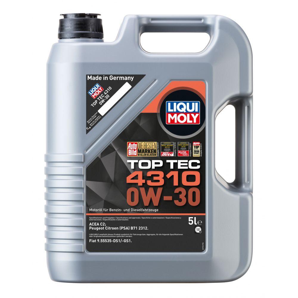 Моторное масло LIQUI MOLY Top Tec 4310 0W-30, 5л
