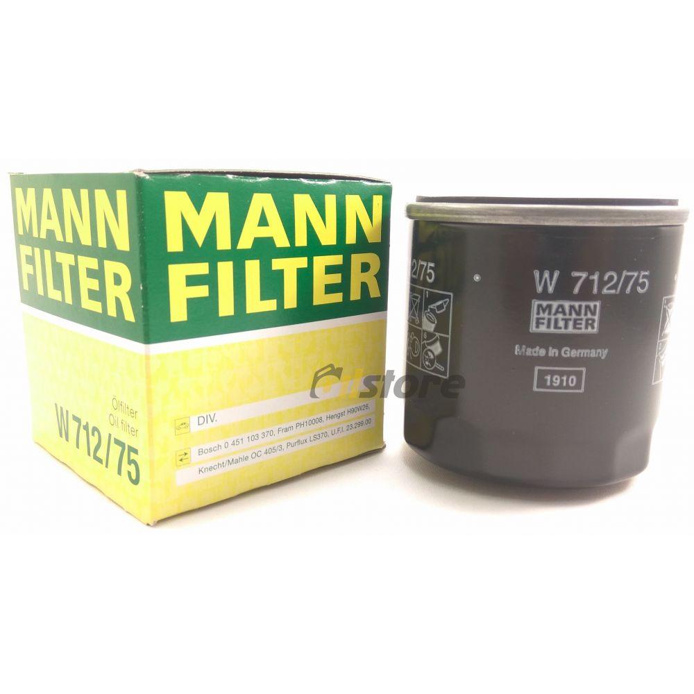 Масляный фильтр MANN-FILTER W 712/75