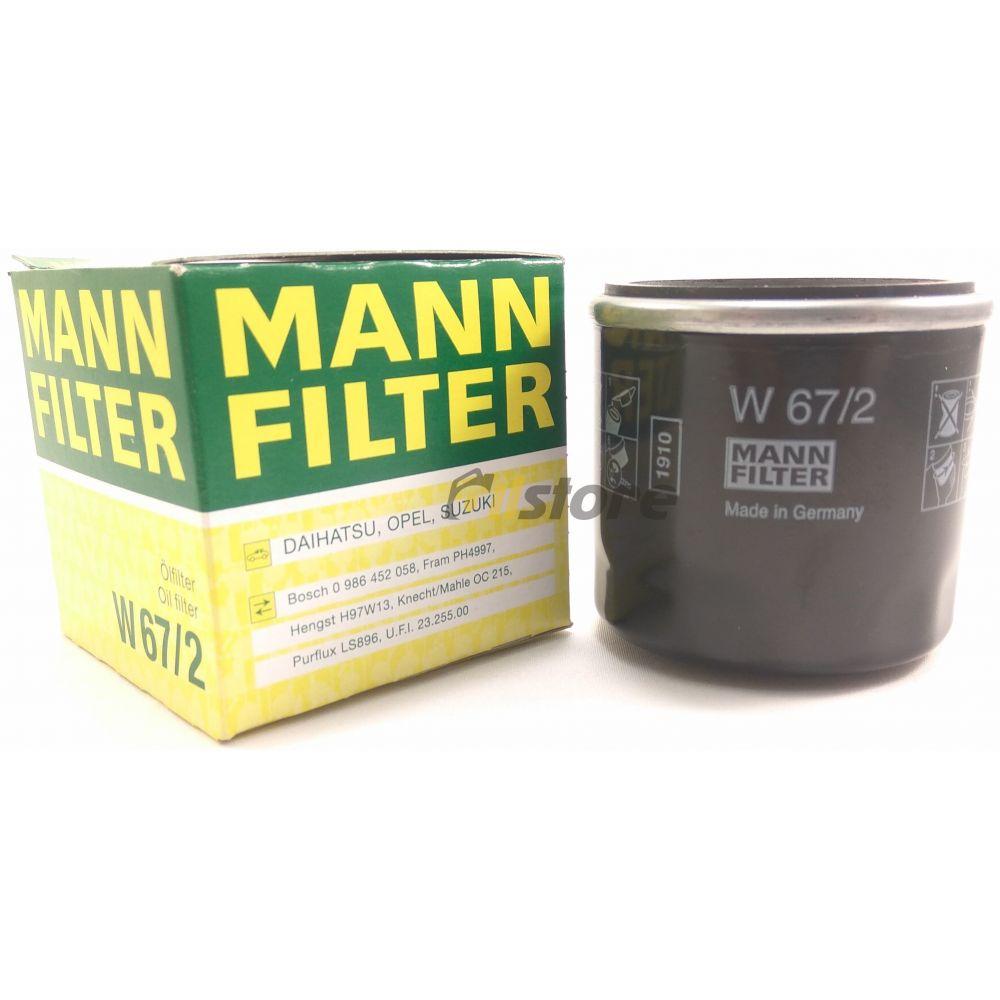 Масляный фильтр MANN-FILTER W 67/2