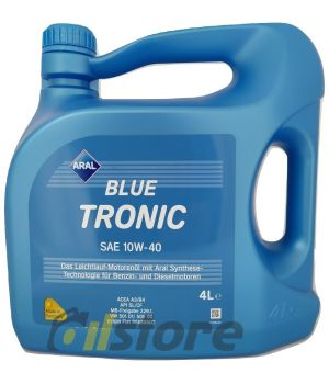 Моторное масло ARAL BlueTronic 10W-40, 4л