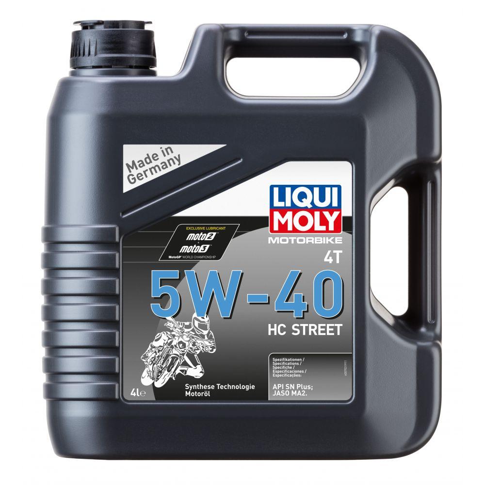 Моторное масло для 4-тактных мотоциклов LIQUI MOLY Motorbike 4T HC Street 5W-40, 4л