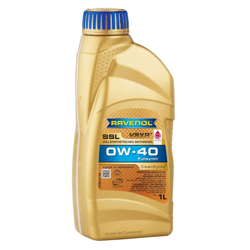 Моторное масло RAVENOL Super Synthetik Oel SSL SAE 0W-40, 1л