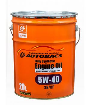 Моторное масло AUTOBACS Fully Synthetic 5W-40 SN/CF, 20л