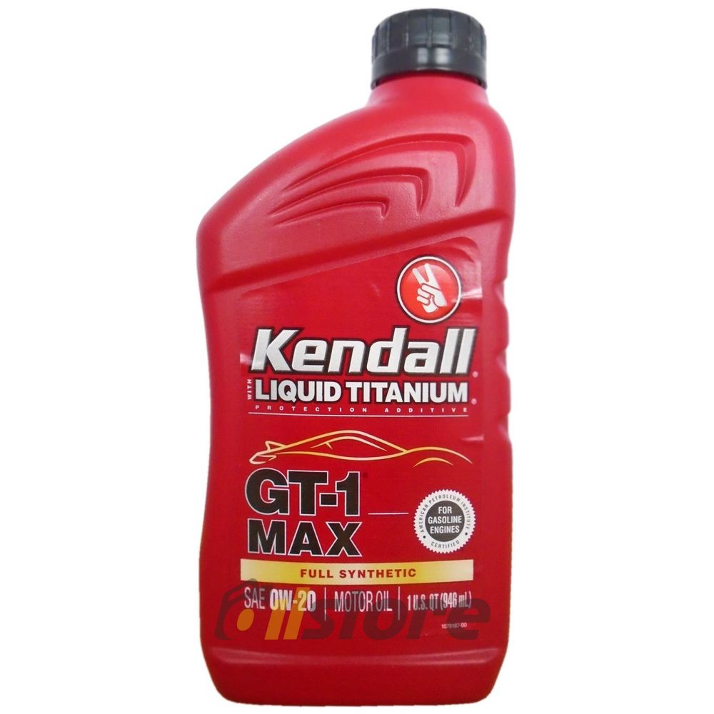 Моторное масло KENDALL GT-1 Max Full Synthetic Motor Oil 0W-20, 0.946л
