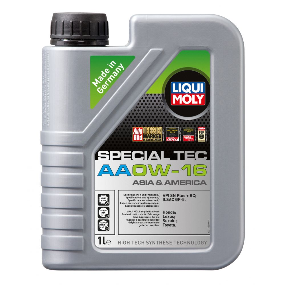 Моторное масло LIQUI MOLY НС Special Tec AA 0W-16, 1л