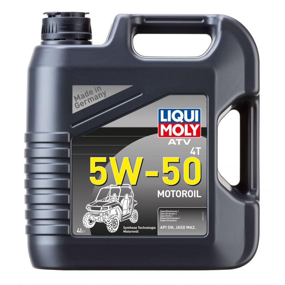 Моторное масло для 4-тактных мотоциклов LIQUI MOLY НС ATV 4T Motoroil 5W-50, 4л