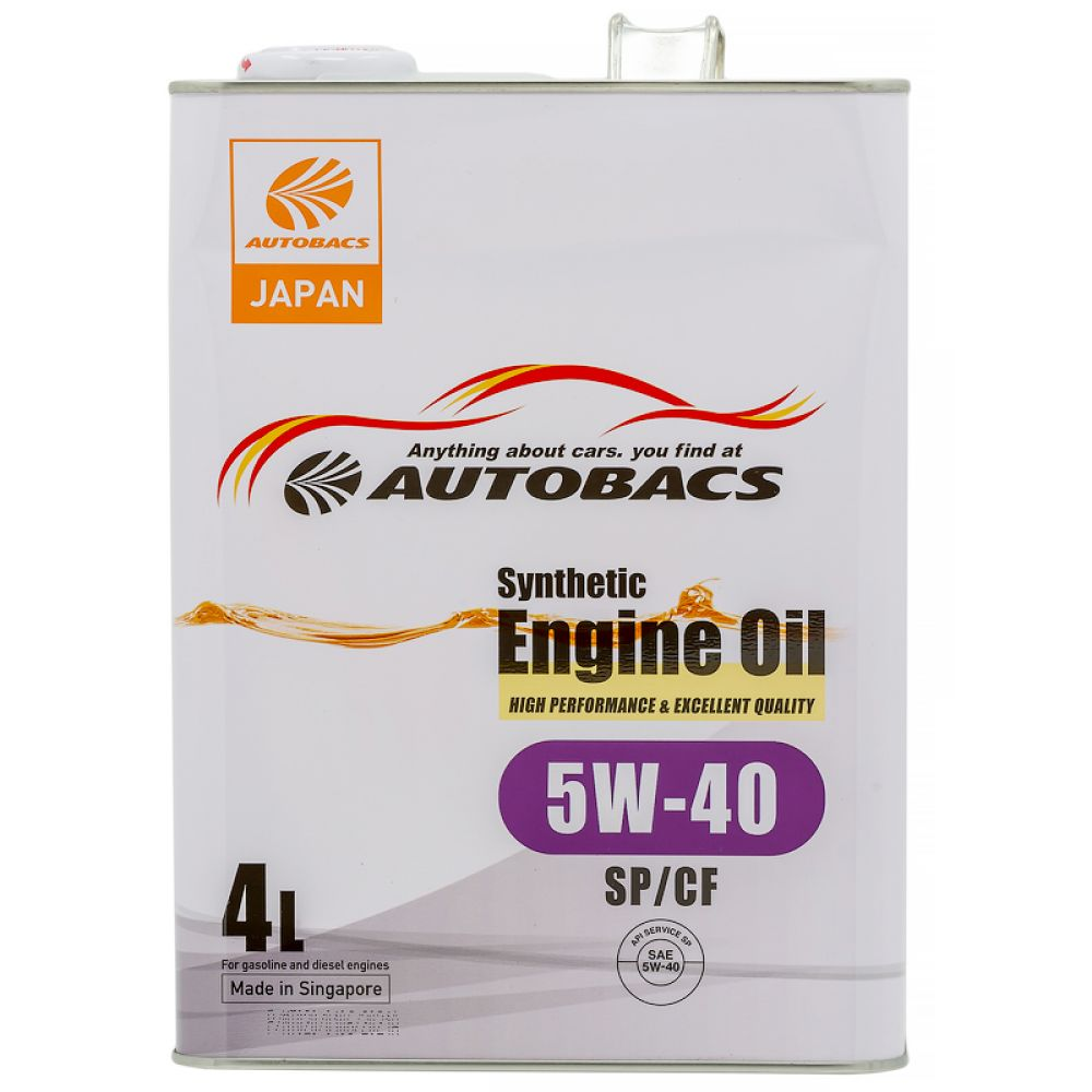 Моторное масло AUTOBACS Synthetic Engine Oil 5W-40 SP/CF, 4л