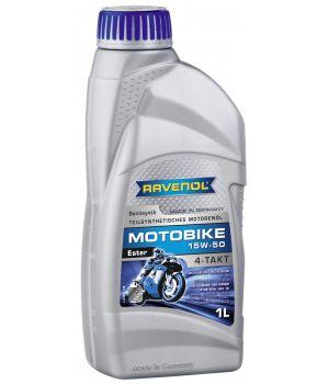 Моторное масло RAVENOL Motobike 4-T Ester 15W-50 (1л) new
