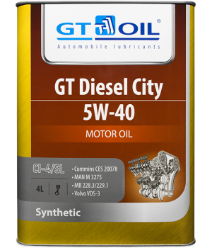 Моторное масло GT OIL GT Diesel City 5W-40, 4л