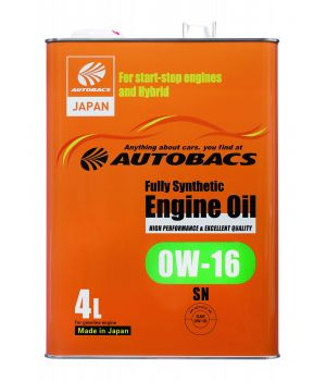 Моторное масло AUTOBACS Fully Synthetic 0W-16 API SN, 4л