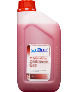 Антифриз готовый GT OIL GT PolarCool Extra G12 красный, 1кг