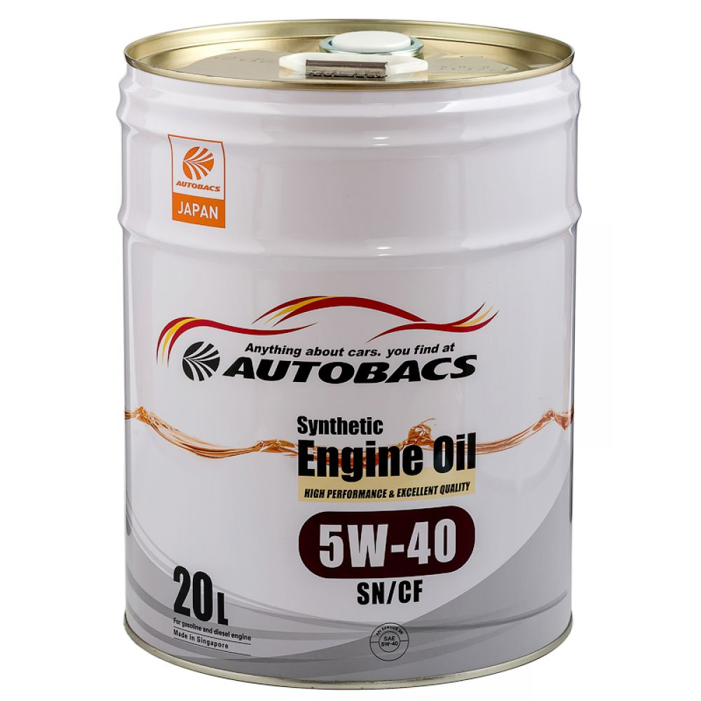 Моторное масло AUTOBACS Synthetic Engine Oil 5W-40 SN/CF, 20л