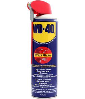 Смазка универсальная WD-40, 420мл (с трубочкой)