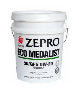 Моторное масло IDEMITSU ZEPRO ECO MEDALIST  SYNTHETIC 0W-20, 20 л.