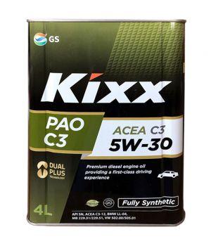 Моторное масло Kixx PAO C3 5W-30, 4л