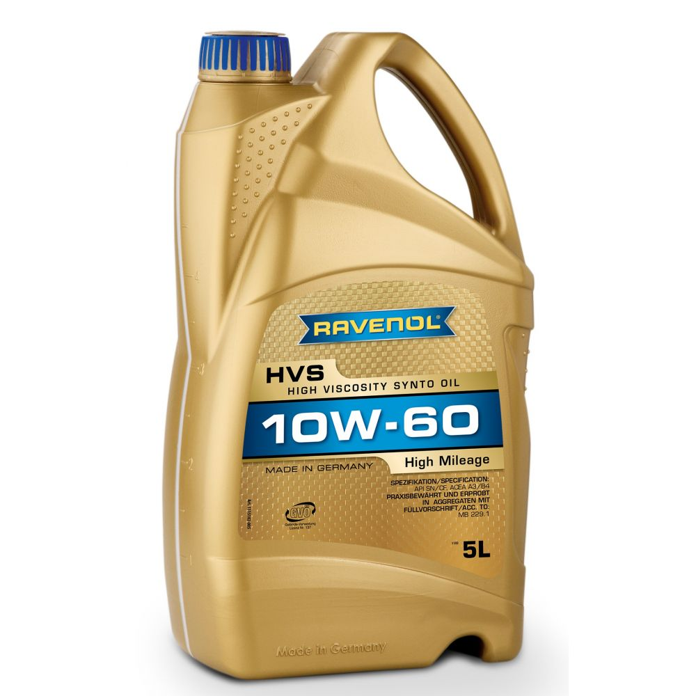Моторное масло RAVENOL HVS High Viscosity Synto Oil SAE10W-60 ( 5л) new