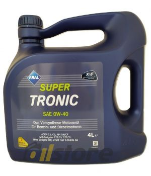 Моторное масло ARAL SuperTronic 0W-40, 4л