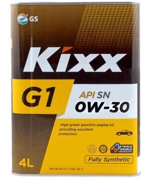Моторное масло Kixx G1 SN Plus 0W-30, 4л