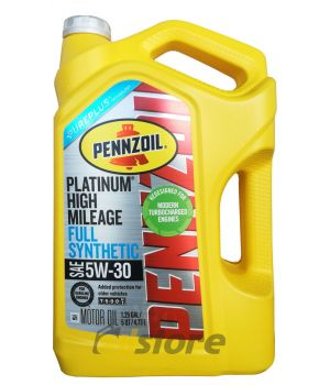 Моторное масло PENNZOIL Platinum High Mileage Vehicle SAE 5W-30, 4,73л