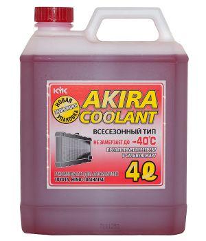 Антифриз Akira Coolant -40°C красный, 4л