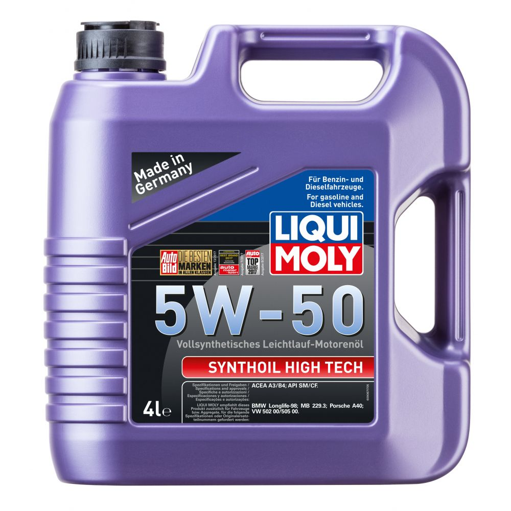 Моторное масло LIQUI MOLY Synthoil High Tech 5W-50, 4л