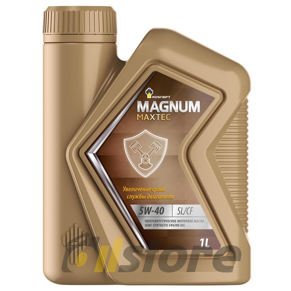 Моторное масло Роснефть Magnum Maxtec 5W-40, 1л