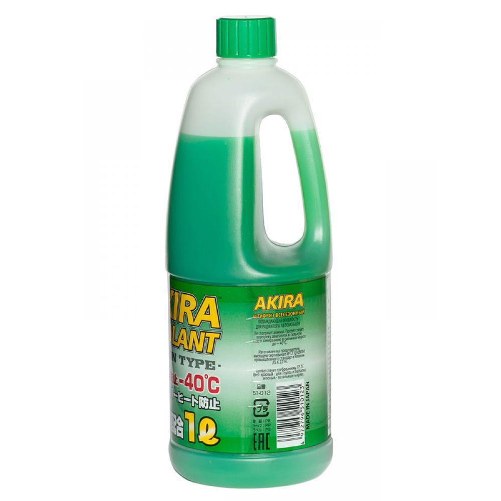 Антифриз AKIRA Coolant -40°C зеленый, 1л