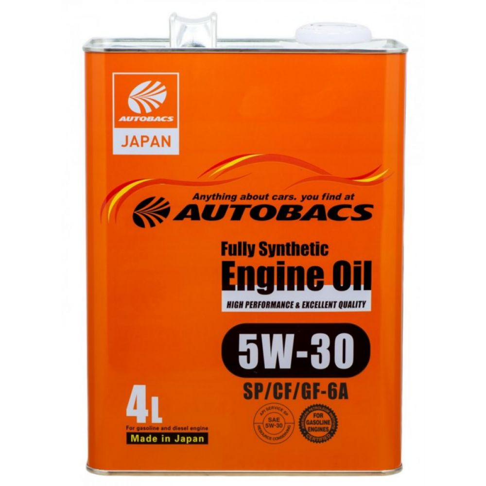 Моторное масло AUTOBACS Fully Synthetic 5W-30 SP/CF/GF-6A, 4л