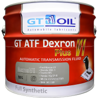 Трансмиссионное масло GT OIL GT ATF Dexron VI Plus, 10л
