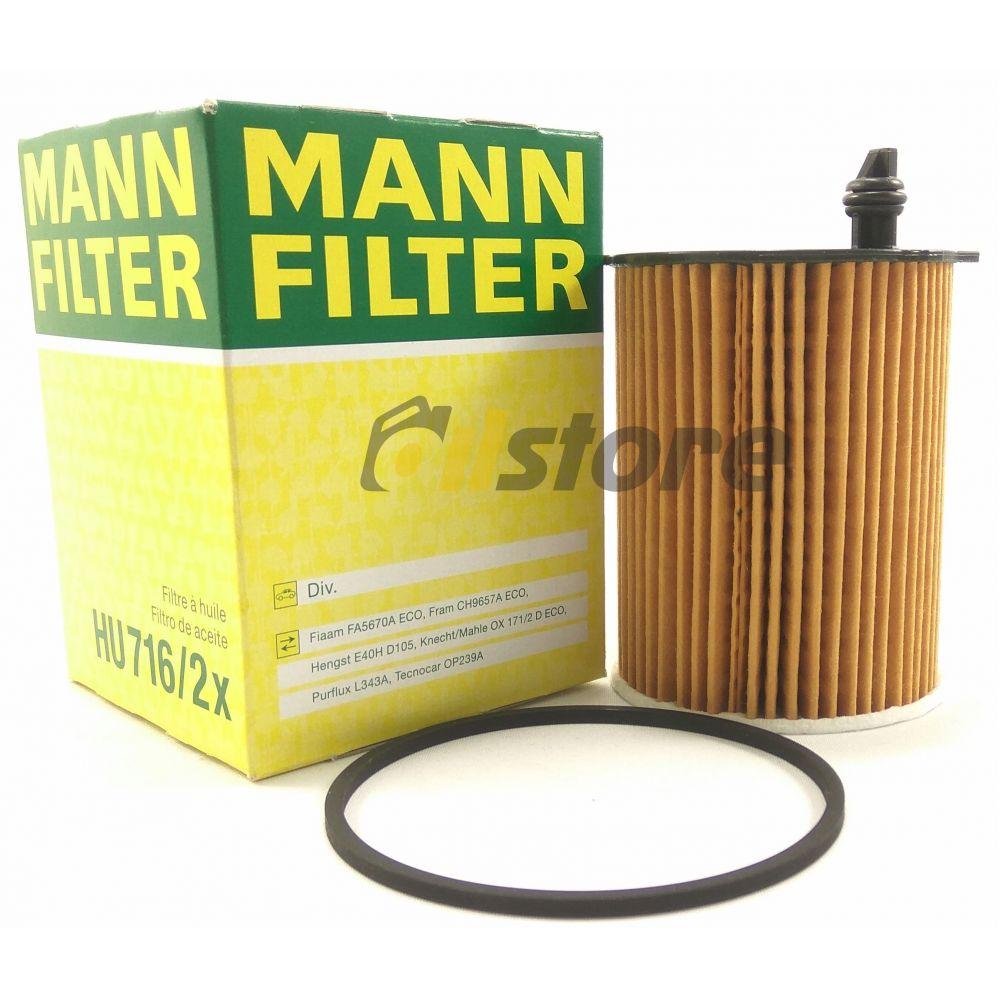 Масляный фильтр MANN-FILTER HU 716/2 X
