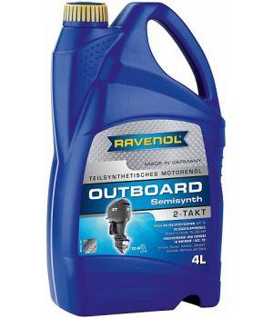Моторное масло для 2Т лод.моторов RAVENOL Outboardoel 2T teilsynth. ( 4л) new