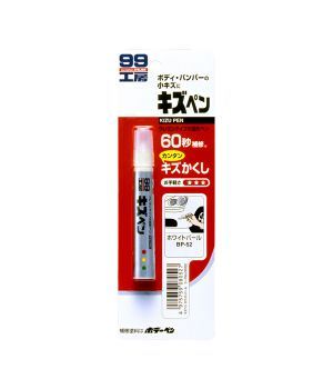 Краска-карандаш для заделки царапин Soft99 KIZU PEN белый, 20гр.