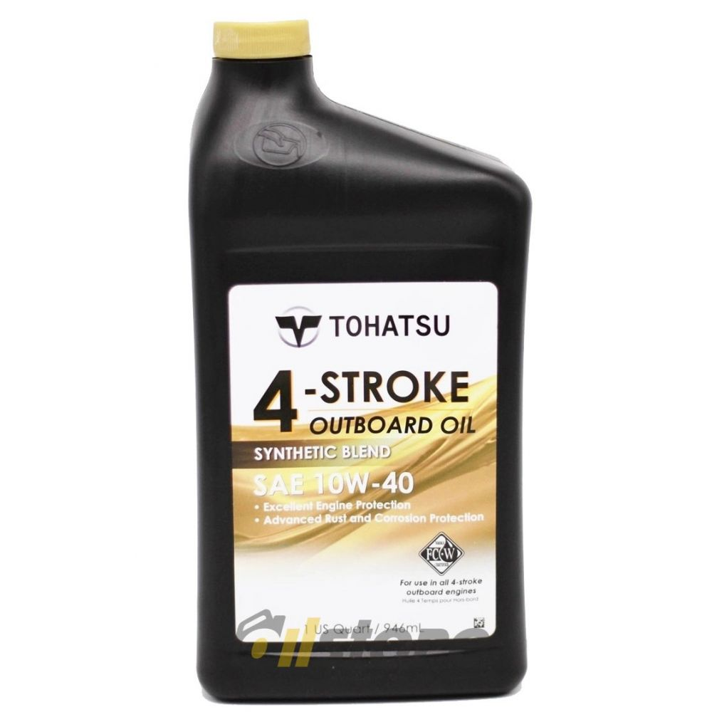 Моторное масло Tohatsu 4-Stroke Outboard Oil 10W-40, 0.946л