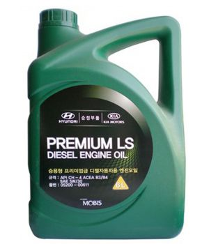 Моторное масло Hyundai/Kia Premium LS Diesel Engine Oil 5W-30, 6л