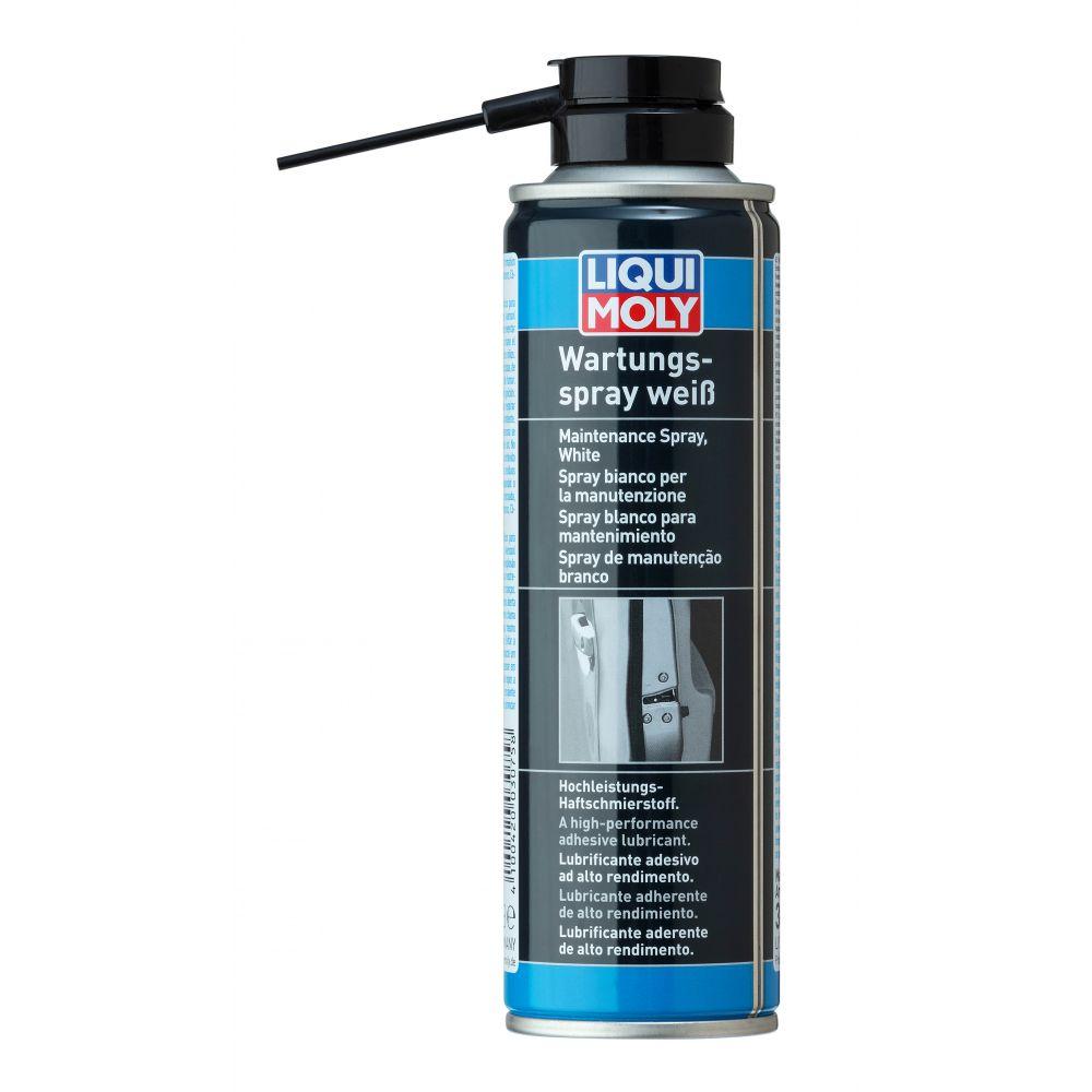Грязеотталкивающая белая смазка LIQUI MOLY Wartungs-Spray weiss, 0,25л