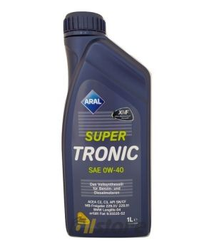 Моторное масло ARAL SuperTronic 0W-40, 1л