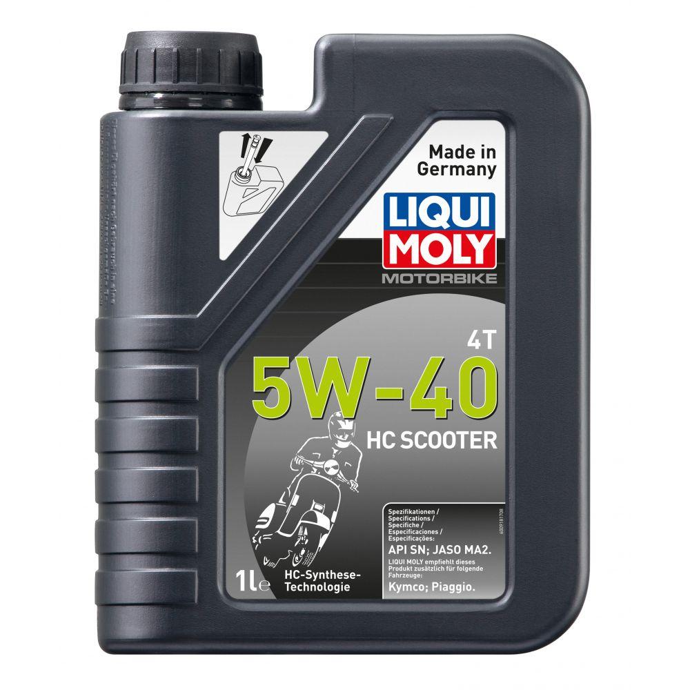 Моторное масло LIQUI MOLY Motorbike 4T HC Scooter 5W-40, 1л
