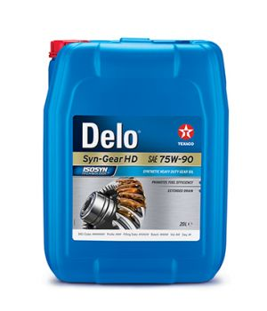 Трансмиссионное масло Texaco DELO Syn-Gear HD 75W-90, 20л