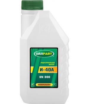Индустриальное масло OILRIGHT И-40А, 1л