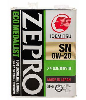 Моторное масло IDEMITSU ZEPRO ECO MEDALIST 0W-20, 4л