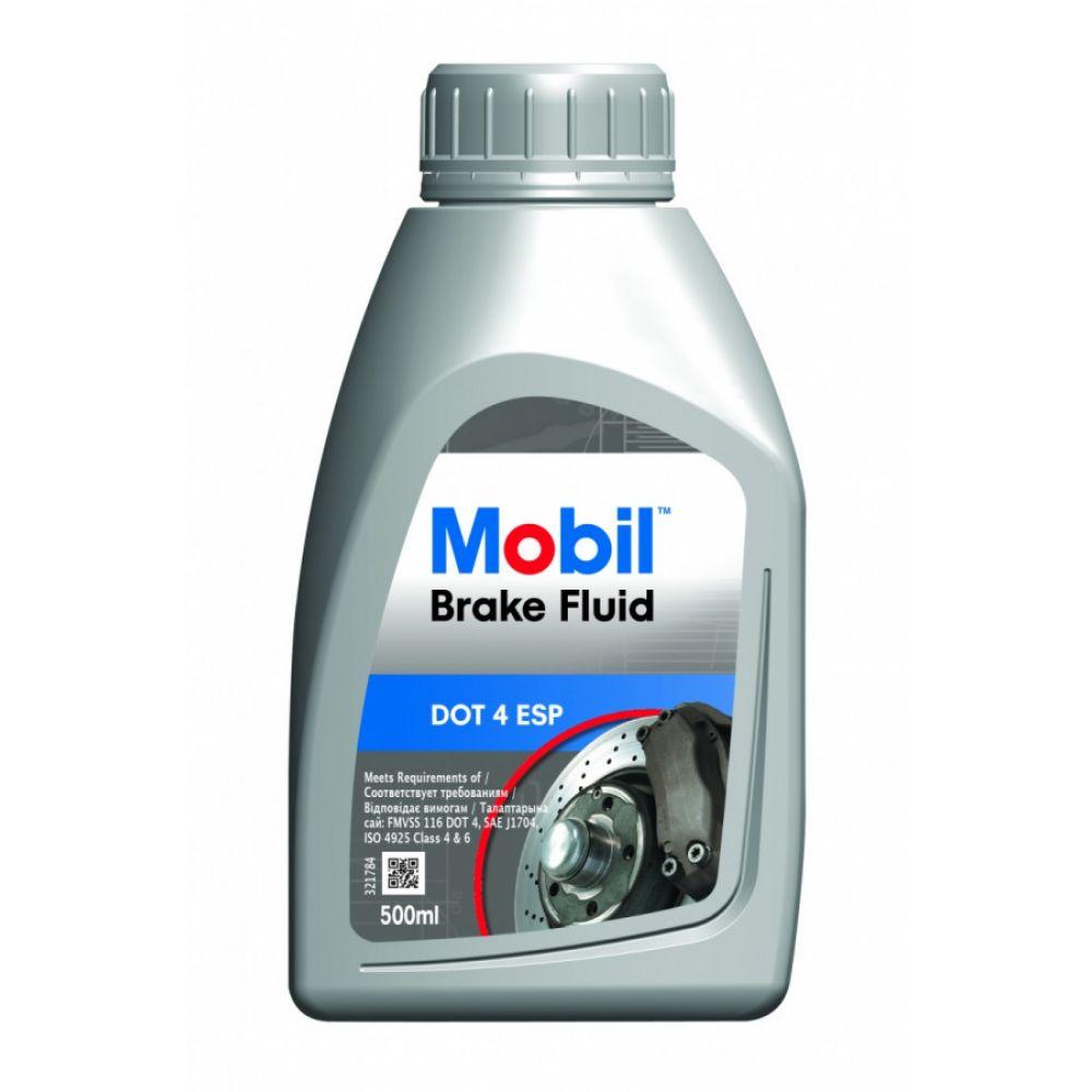Тормозная жидкость Mobil Brake Fluid DOT 4 ESP, 0,5л